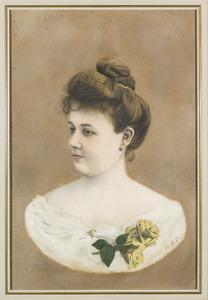Portret van Ernestina Henriette Sophia Regina Goslings (1883-1954)