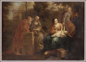 De Heilige Familie met de HH. Joachim en Anna