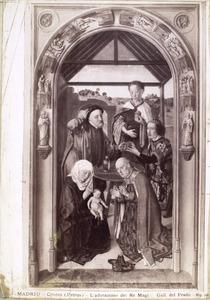 Drieluik met scènes uit het leven van Maria: Aanbidding van de koningen