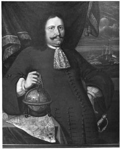 Portret van Gerrit van Nieuwstadt, kapitein van het schip 'Wapen van Hoorn'