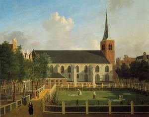 Het Begijnhof met de Engelse Kerk in Amsterdam