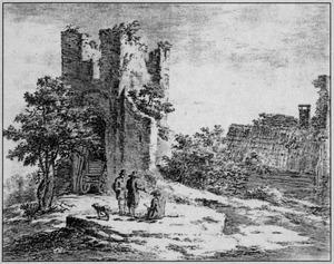 Ruïne van het kasteel Brederode vanut het noordoosten