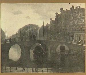 Brouwersgracht te Amsterdam bij avond