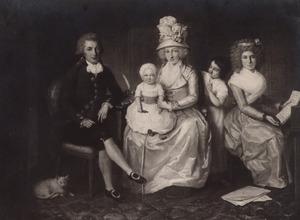 Portret van de familie van Alexander Mitchell (1765-1846) en Jeannette Bourigaud d' Artillact (1750-....)