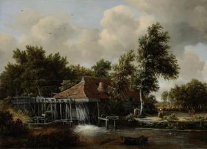 Landschap met watermolen