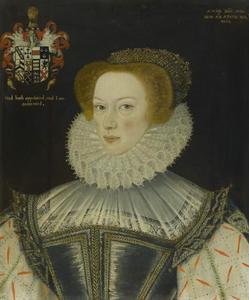 Portret van Jennet Parkinson, echtgenote van Cuthbert Hesketh of Whitehill