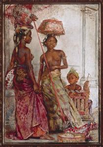 'Melis', compositie van Ni Dablig met Ni Gemblong en een kind