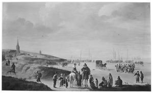 Het strand van Katwijk met Willem van Liere (1620-1654) en Maria van Reigersberg (1628-1673)
