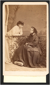 Portret van Margaretha Jacoba Maria Paulina Boreel (1813-1892) en Maria Boreel (1850-1919)