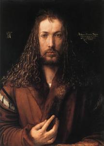 Zelfportret in bontmantel