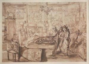Interieur van een schilderijenkabinet