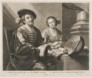 Het duet. De kunstenaar Theodor Rombouts met zijn vrouw Anna van Thielen