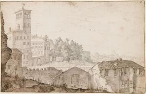 Gezicht op het Quirinaal te Rome