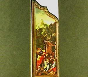 Drieluik met de dans om het gouden kalf (Exodus 32:1-25)