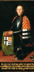 Portret van landcommandeur Albert van Egmond van Merestein