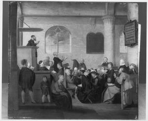 Dienst in een protestantse dorpskerk