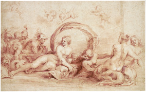 De ontmoeting van Peleus en Thetis
