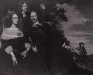 Portret van Alexander van der Capellen (1599-1656), Emilia van Zuylen van Nievelt (....-1677) en hun zoon Frederik van der Capellen (1629-1706)