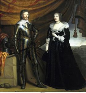 Portret van Frederik Hendrik van Oranje-Nassau (1584-1647) en Amalia van Solms (1602-1675)