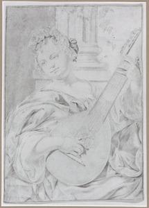 Luitspelende vrouw: allegorie op de muziek