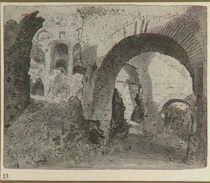 Gezicht in het Colosseum (?)