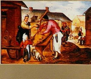 De herfst: het slachten van het varken in november