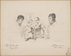 Portretten van Abraham Lion Zeelander (1789-1856) en Anthony Oberman (1781-1845)