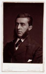 Portret van een man, mogelijk A.J. Korteweg (...-...)