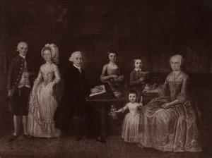 Groepsportret van de familie van Jan Herman Wijgaers (1758-1820) en Hadewina Agatha van Kempen (1765-1801)