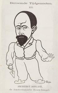 Portret van Hendrik Petrus Berlage (1856-1934)