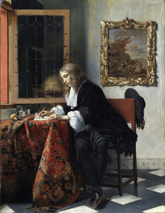 Briefschrijvende man