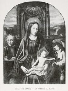 De Heilige Familie met een engel