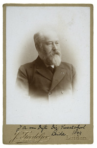 Portret van Johannes Adrianus van Dijk (1830-1908)