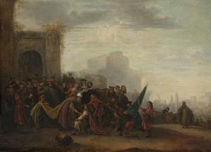 David brengt Saul het hoofd van Goliat (1 Samuel 17:57)