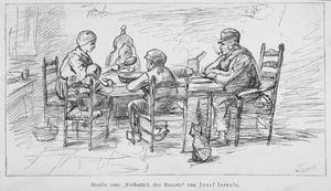 Schets voor 'Boerengezin aan de maaltijd'