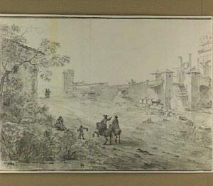Saintes, de Romeinse brug over de Charente, met de boog van Germanicus