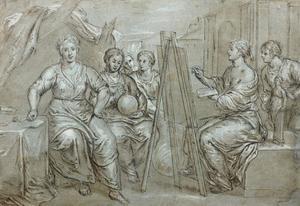 Allegorie van de Schilderkunst, Beeldhouwkunst, Letterkunde en Astronomie
