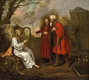 De engel kondigt de geboorte aan van Johannes aan Manoach en zijn vrouw (Richteren 13)