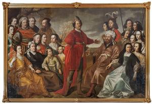 Groepsportret van de familie Gröning