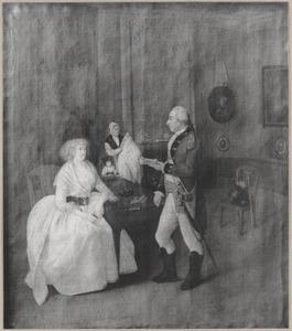 Portret van de familie David van Guericke (1748-1816) en Catharina Moorrees (1763-1823)