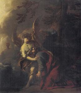 Christus in de Hof der Olijven vertroost door de engel