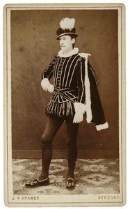 Portret van Jan Jacob van Valkenburg (1858-1883) als Jan Taets van Amerongen