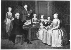 Familieportret van Pieter van den Ende (1736-1796), zijn vrouw Wilhelmina Brouwer (1743-1828) en hun gezin