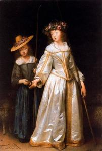 Twee herderinnen