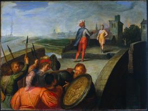 De vredesonderhandelingen tussen Claudius Civilis en Cerealis