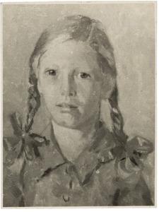 Portret van een meisje met vlechten