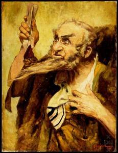 Portret van Louis Bouwmeester (1842-1925) als Shylock uit Shakespeare's 'De Koopman van Venetie'