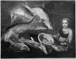 Visstilleven met jong meisje