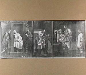 Drie van de zeven sacramenten: de biecht, het misoffer en het laatste oliesel