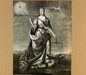 Allegorische voorstelling van de triomf der gerechtigheid